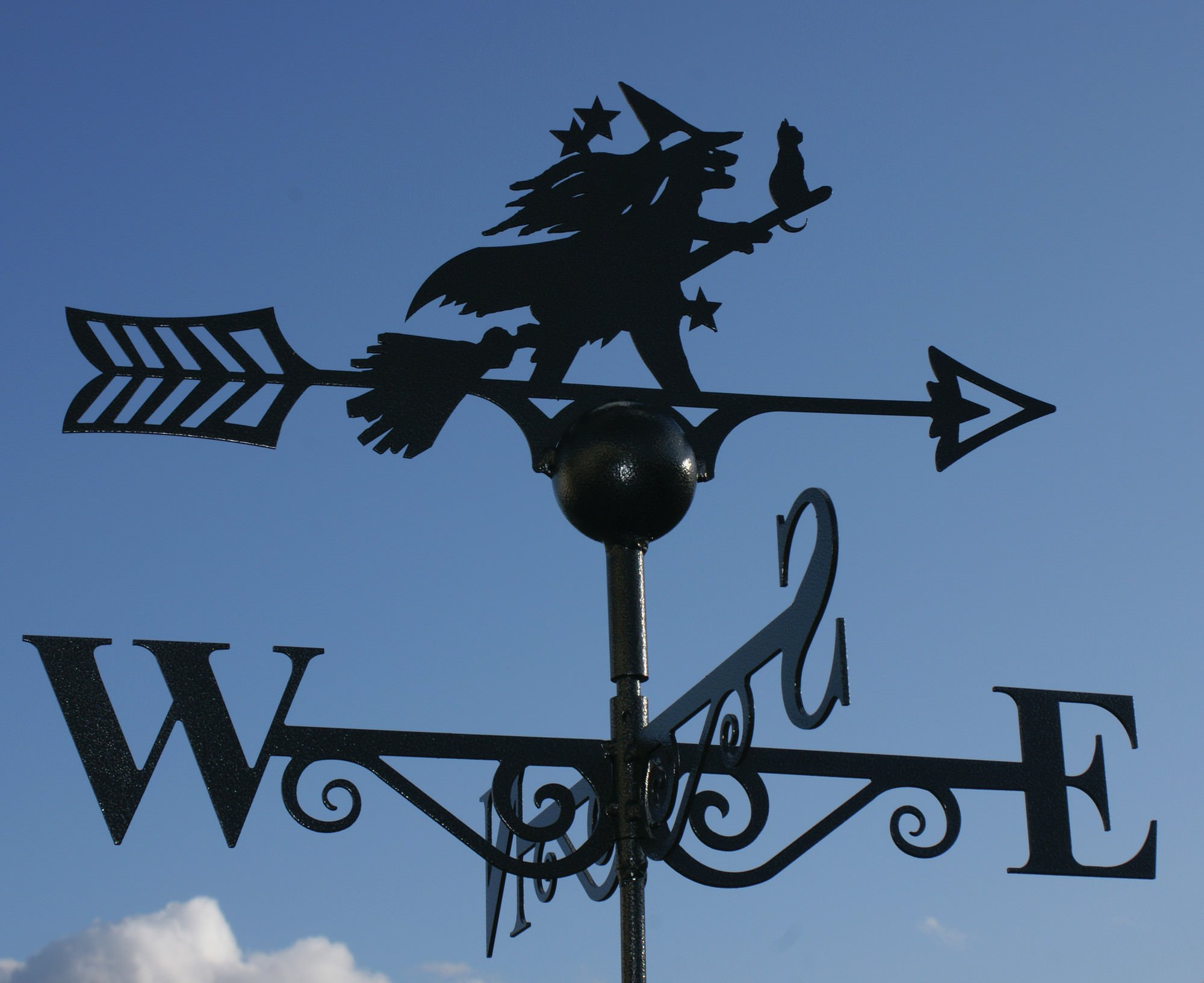 PoppyForge Witch and Cat Weathervane